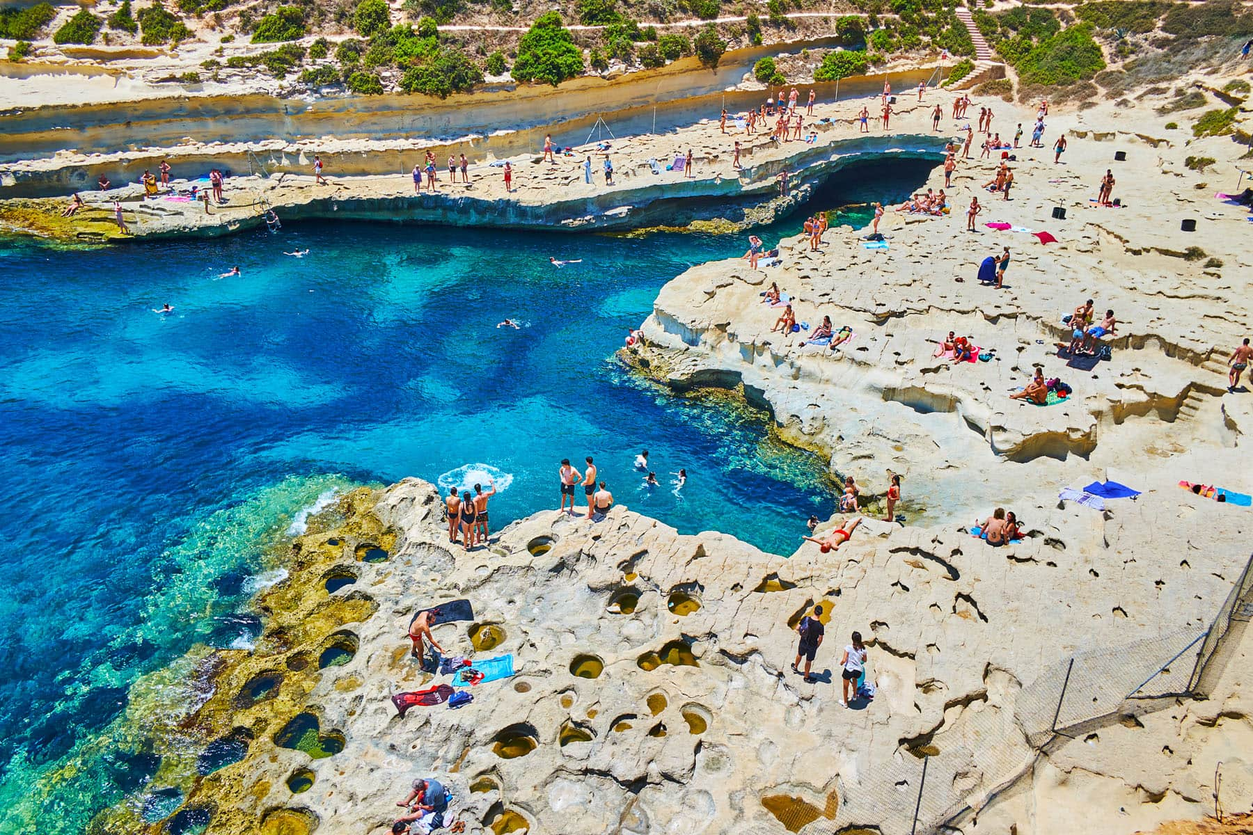St. Peter's pool - Partenza Travel creates luxury travel packages to Malta