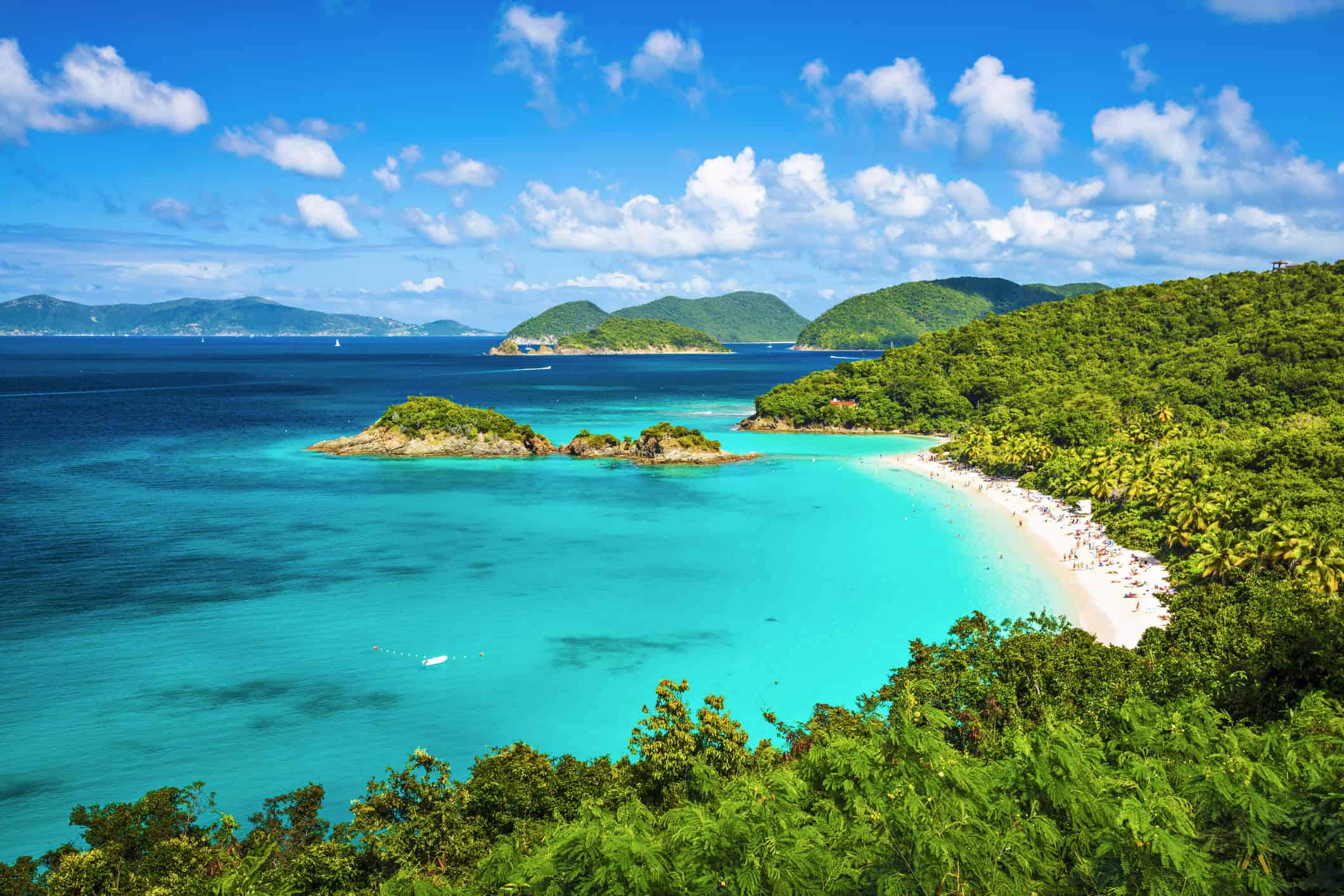 Trunk Bay in St John - Partenza Travel creates luxury Caribbean vacation packages